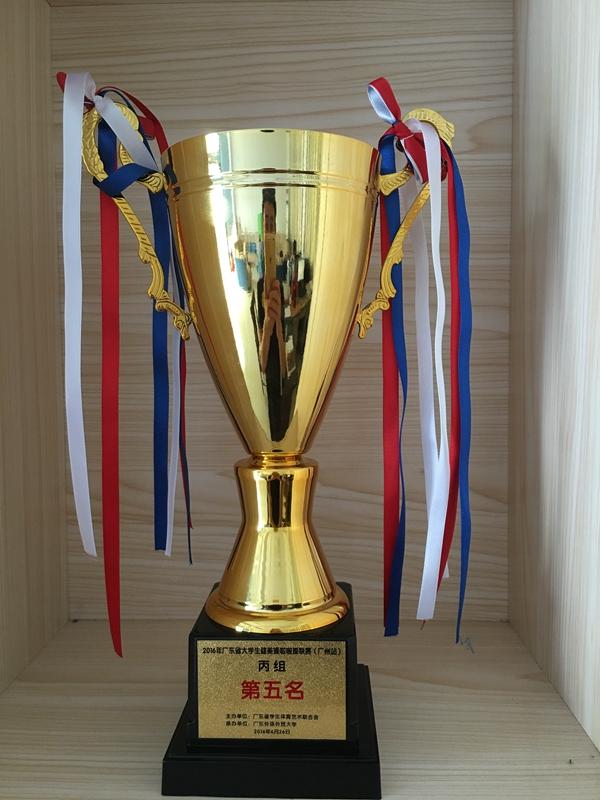 我校在2016年广东省大学生健美操啦啦操联赛(广州站)比赛中荣获佳绩