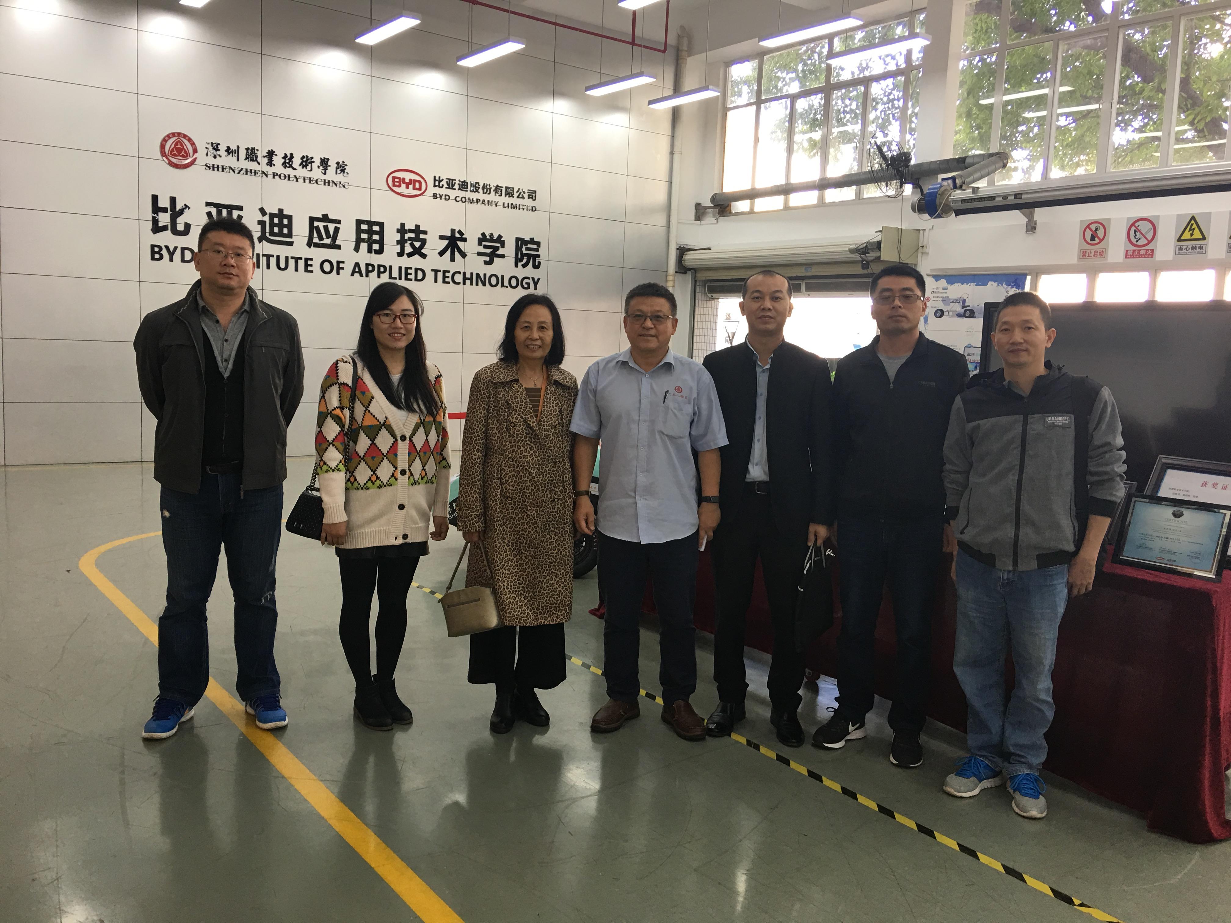 智能制造学院一行到深圳职业技术学院汽车与交通学院交流学习