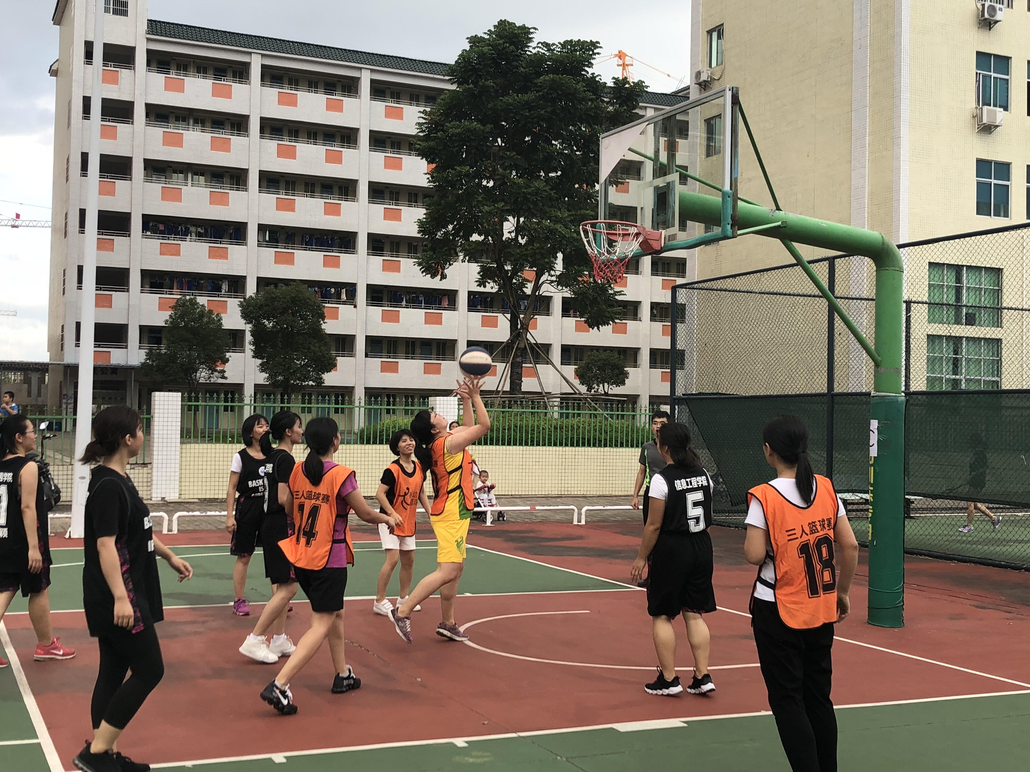 教职工女篮小组赛开赛